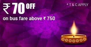 Diwali Best Offer on Bus Bharuch To Amravati Travel70